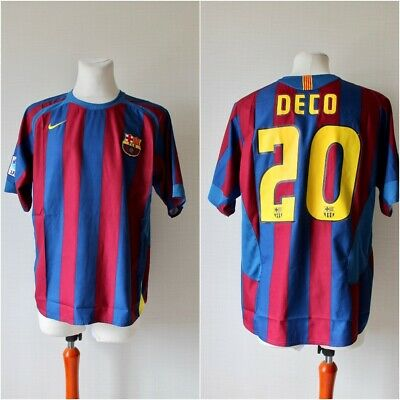 BARCELONA SPAIN 2005/2006 HOME FOOTBALL SHIRT JERSEY CAMISETA SIZE XL DECO #20 image