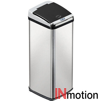 Inmotion 58L Stainless Steel Auto Automatic Sensor Kitchen Waste Dust Bin