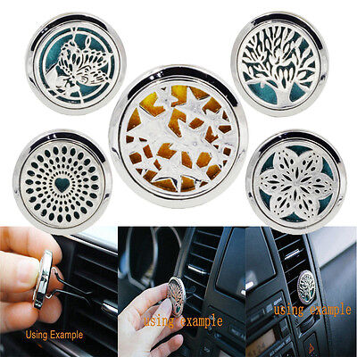 5 Style Stainless Car Air Vent Freshener Essential Oil Diffuser Locket Best