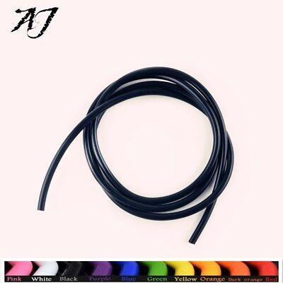 """AJ For 20 Feet 1/8"""" 3mm Fuel Air Silicone Vacuum Hose Line Tube Pipe Black"""
