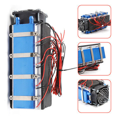 Diy Kit 8-chip Tec1-12706 Thermoelectric Peltier Module Water Cooler Cooling Fan