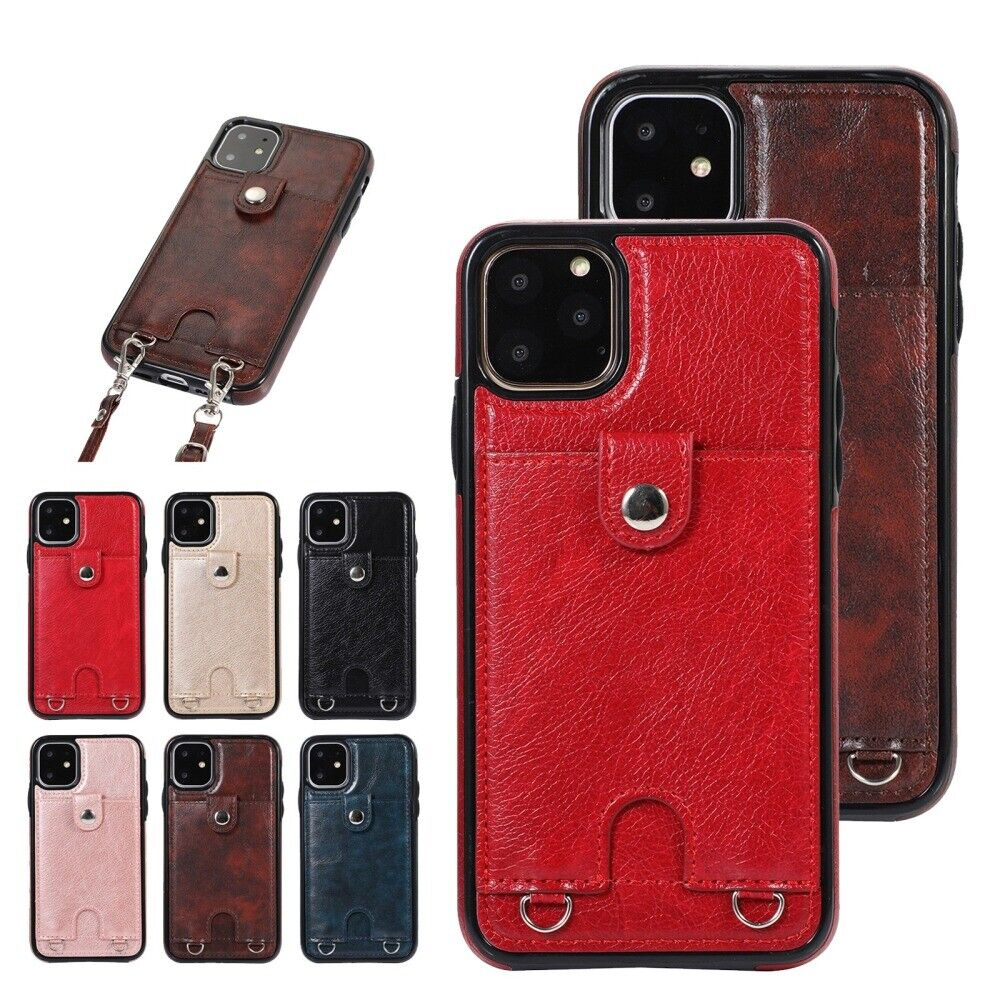 Cross Body Strap Card Slot Wallet Shockproof Case Cover For