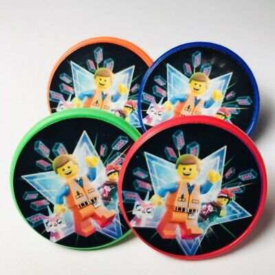 Lego Movie Cupcake Toppers Rings Birthday Party Favors - Set of - Cupcake Ring Toppers