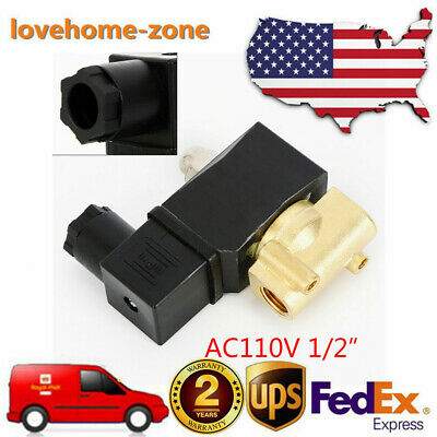 12 Brass Electric Solenoid Valve Npt Nc Suitable Media For Water Air Gas