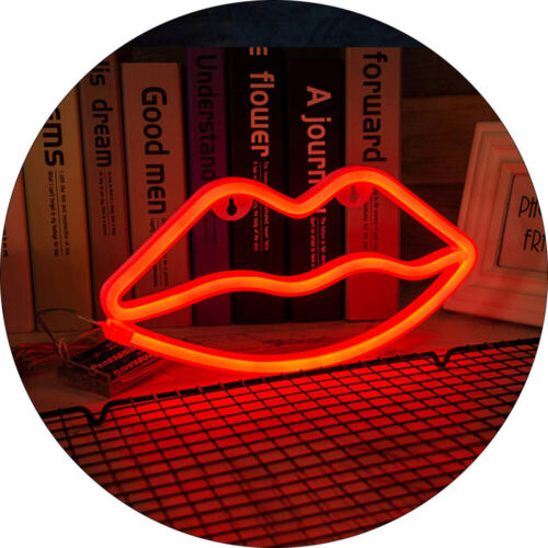 """12/""""x9/"""" Loving heart 1-Sign WALL MOUNTED LED NEON SIGN USB Power Panel Home Decor"""