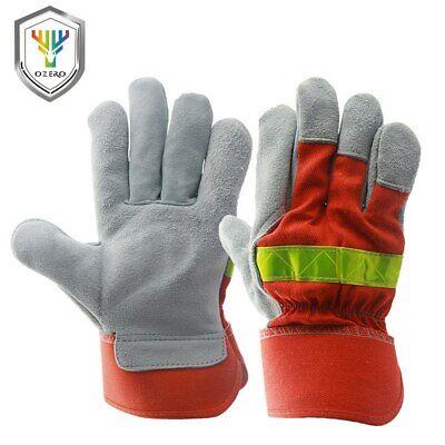 1 Pair Fire Proof Non-slip Anti-fire Gloves Heat Proof Firefighting Work Gloves