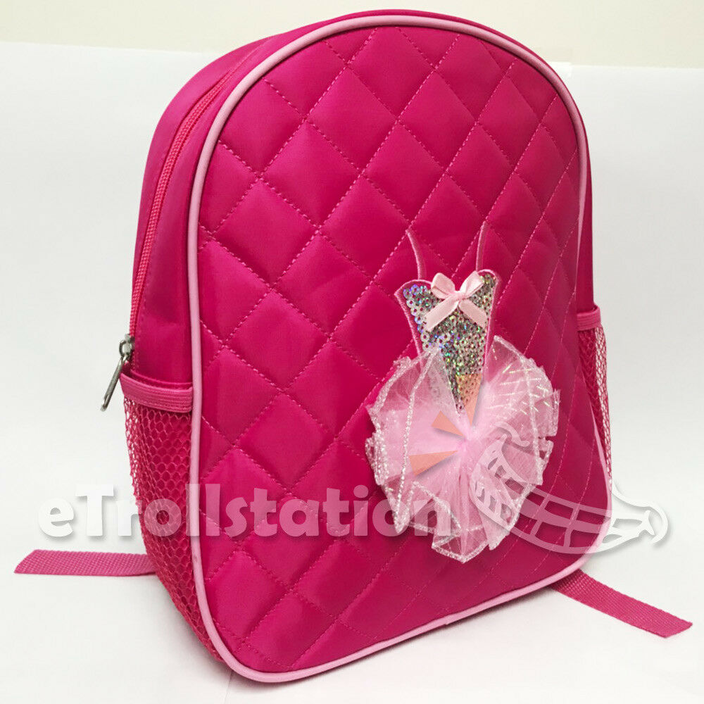 e947f6c69a3a Lovely Girls Backpack Dance Bag Ballet Tutu Tap Quilted Dress Hot Pink  Fuchsia фото