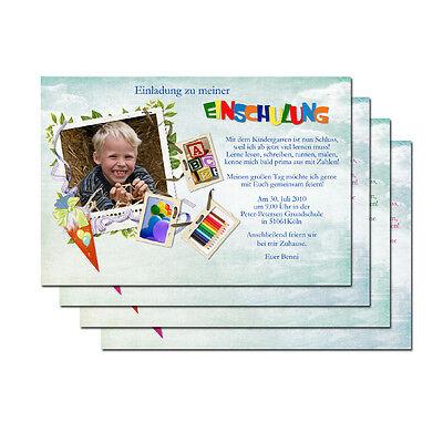 ule Schuleinführung Party Karte Einladung + Kuvert (15 Einladungen)