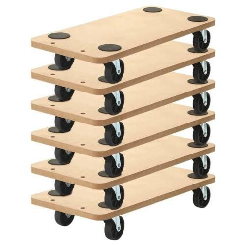 "6 Pack 23""x11.5"" Dolly Moving Cart Platform 550LB Rectangle Wood Mover Platforms"