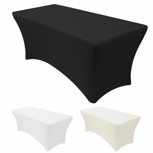 4/6/8ft Stretch Spandex Fitted Tablecloth Table Cover for We