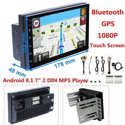 "Double 2DIN 7"" Android 8.1 GPS 4Core Car Stereo Radio GPS Navigation 1024*600"