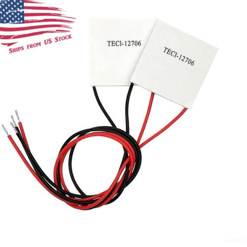 2 PCS TEC1-12706 12V 60W Thermoelectric Cooler TEC Peltier Plate Module 2X US