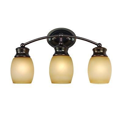 - Bel Air 3-Light Oil Rubbed Bronze Curved Bath Bar Light
