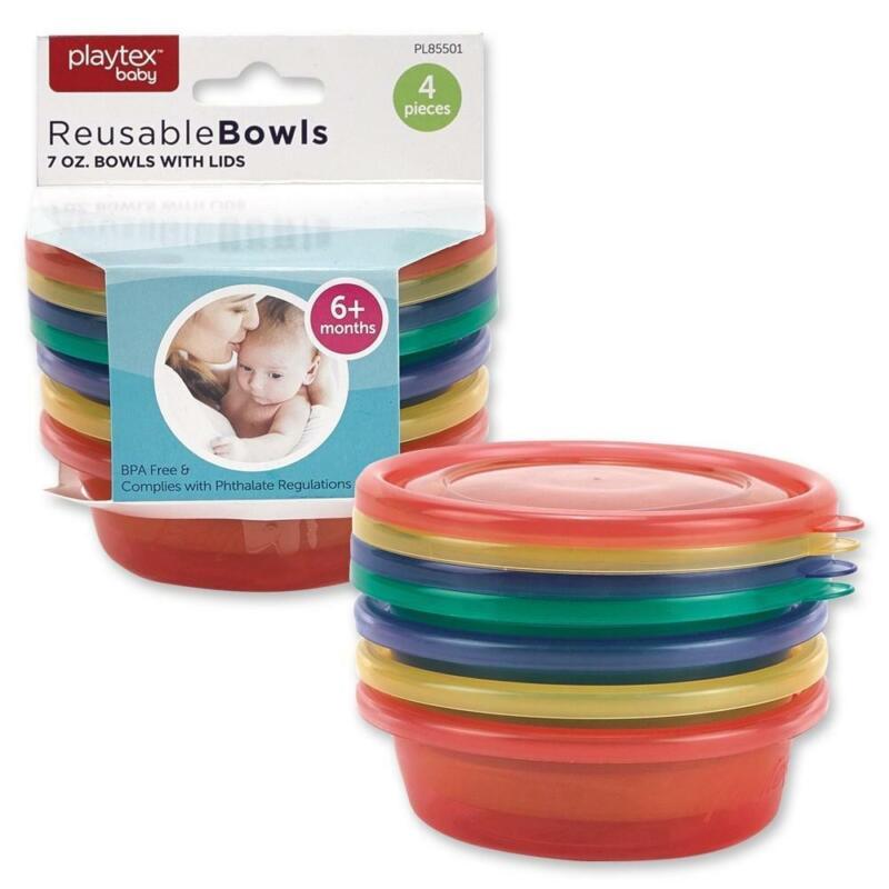 Playtex Baby 7oz Baby Reusable Bowls, 4-ct.