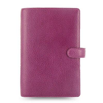 New Filofax Personal Size Finsbury Organiser Diary Book Raspberry Leather 025305