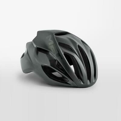 MET Rivale Bicicleta de Carrera Casco Gris Oscuro - Grande 59/62cm