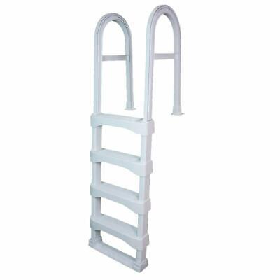 VinylWorks SLD Snap-Lock Resin Swimming Above Ground In-Pool Ladder - White