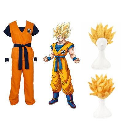 Dragon Ball Z Super Saiyan Goku Son Gokou Turtle senRu Anime Costume Cosplay Set - Dragon Ball Z Saiyan Costume