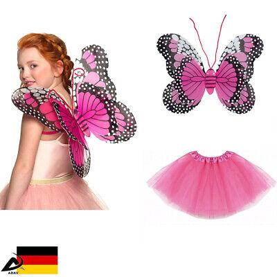 Kinder Schmetterling Kostüm Dunkelrosa Tütü Fasching Kinder Fee Karneval Engel