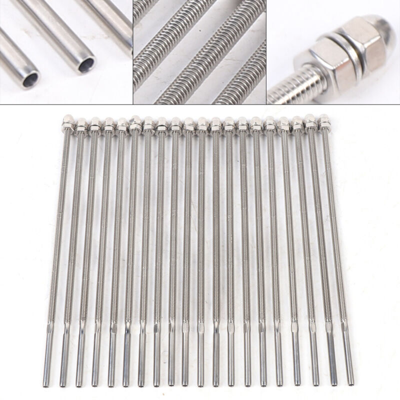 """20X Stainless Steel Swage Threaded Stud Tensioner End for 1/8"""" Cable Deck Rail"""
