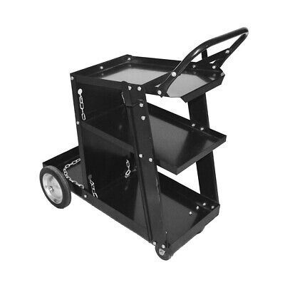 3-tier Heavy Duty Welding Cart For Mig Tig Arc Plasma Cutter Black