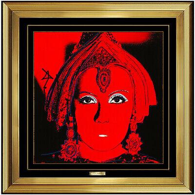 Andy Warhol Hand Signed Color Lithograph The Star Mata Hari Greta Garbo Myths