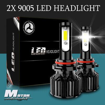 9005 HB3 LED Headlight Bulbs Hi/Lo Beam Conversion Kit 6400LM 6000K HID