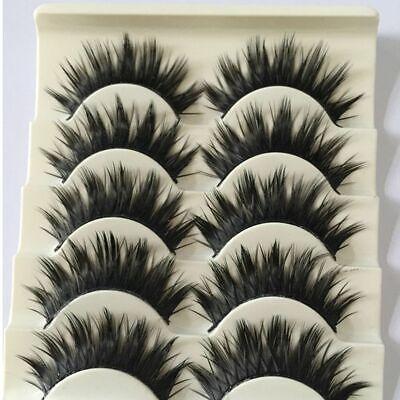 5 Pairs Ultra Thick Cross False Eyelashes Natural Long Eye Lash Extensions Cheap](Cheap Eyelashes)