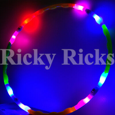 Kids LED Hula Hoop Dance Light Up Spinning Toy Lighted Future Glow EDC