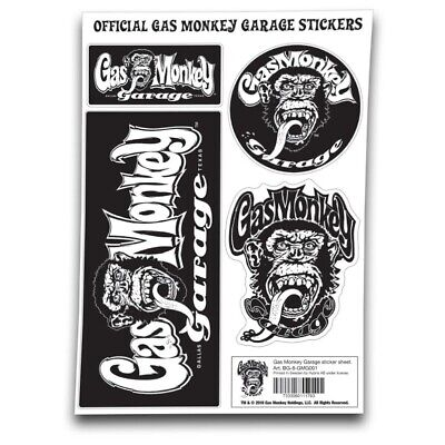 Official Gas Monkey Garage A4 Set of STICKERS #2 Blood Sweat Beers Gift