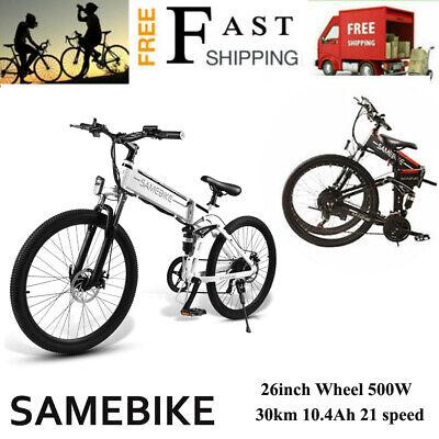 Bicicleta EléCtrica Plegable 500W 26'' AmortiguacióN Asistencia Horquilla W5G1