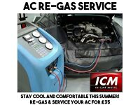Air Con AC Air Condition Regas Recharge Service £35 - All Makes of Cars Audi BMW Mercedes VW etc..