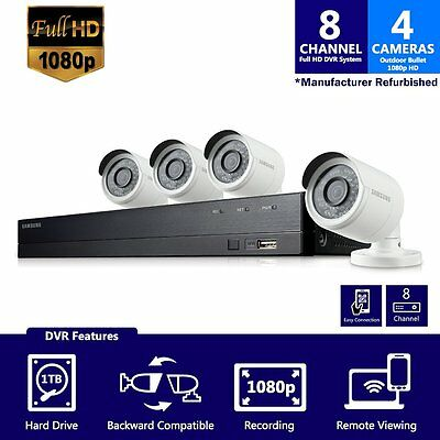 SDH-B74041 - Samsung 8 Channel 1080p HD 1TB Security Camera System with 4