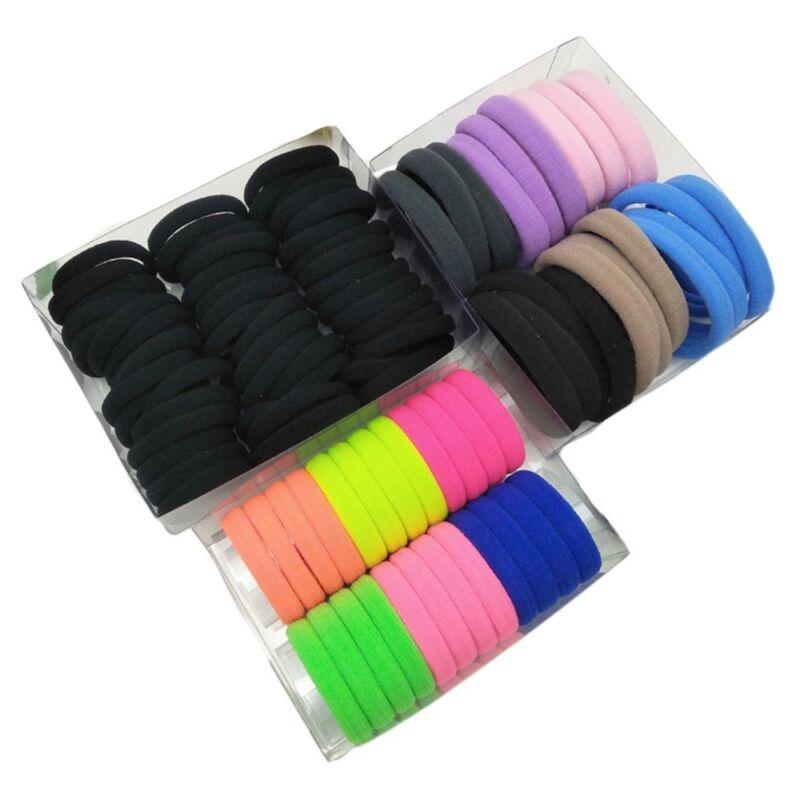 10//100pcs Elastic Rope Hair Ties Ponytail Holder Head Band Hairbands NICA