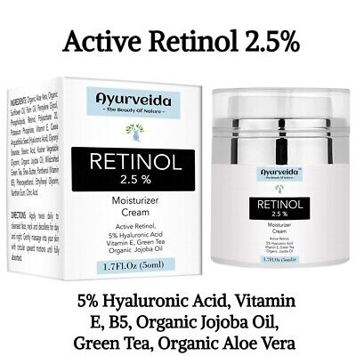 Best Retinol Anti Ageing Cream For Face - 5% Hyaluronic Acid, Vitamin