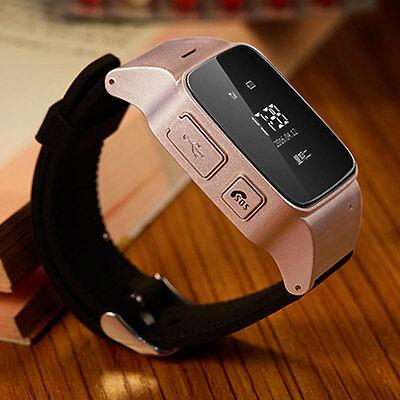 Smart Wrist Watch SOS Voice Monitor GPS Tracking Locater Intercom For Kids Elder