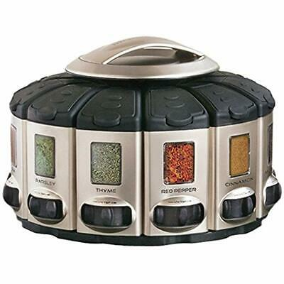 Spice Satin (KitchenArt 57010 Select-A-Spice Auto-Measure Carousel Professional Series,)