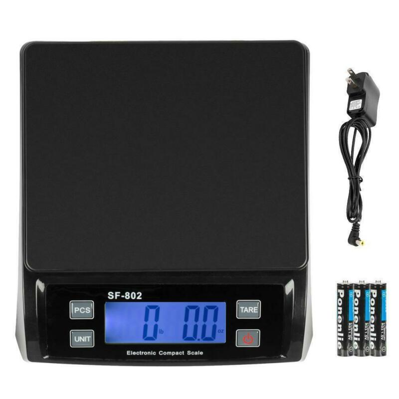 66 LB x 0.1oz Digital Weigh Packaging Shipping Postal Scale Battery + AC Adapter