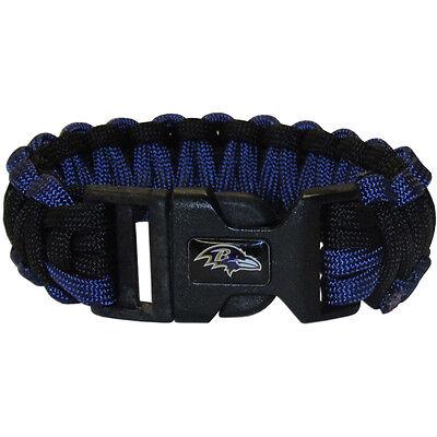 Baltimore Ravens Football Team Logo NFL Purple Black Survival Paracord Bracelet