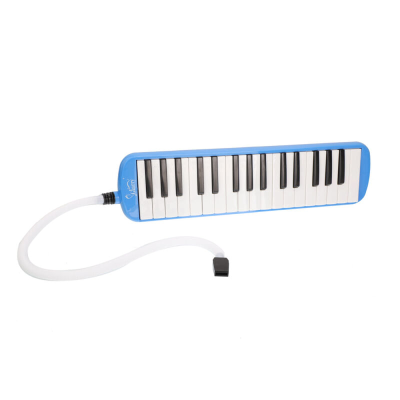 32-Key Melodica Mouth Organ with Blowpipe & Blow Pipe Blue US SHIPPING