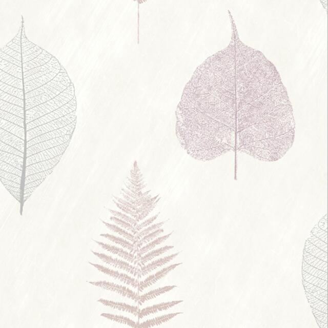 Arthouse Thea Leaf Pattern Wallpaper Modern Metallic Floral Leaves Motif 693403