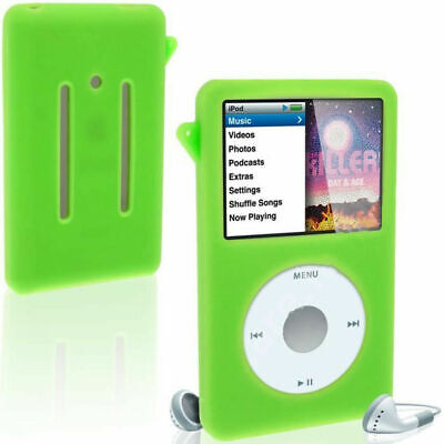 Green Silicone Skin Cover Case For iPod Video 30GB Classic 80GB/120GB/160GB Thin Green Ipod Video 30 Gb