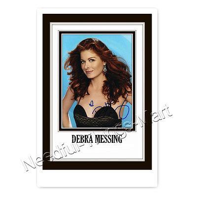 Debra Messing alias Detective Laura Diamond - Autogrammfoto laminiert [K1]