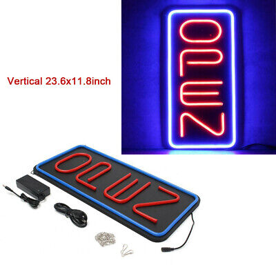 Vertical Led Open Sign With 2 Color Ultra Bright Neon Light Led Business Signs