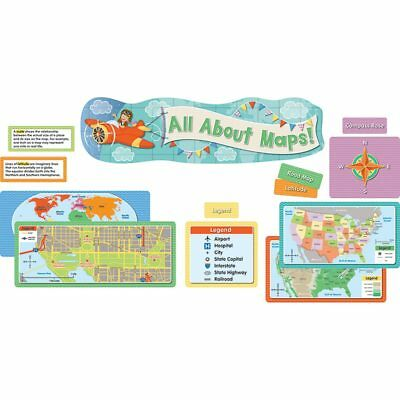 All About Maps Mini Bulletin Board Set Carson Dellosa CD-110349 (About Bulletin Board Set)
