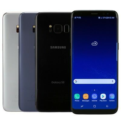 Samsung Galaxy S8 Smartphone Choose GSM Unlocked or AT&T T-Mobile Verizon Sprint