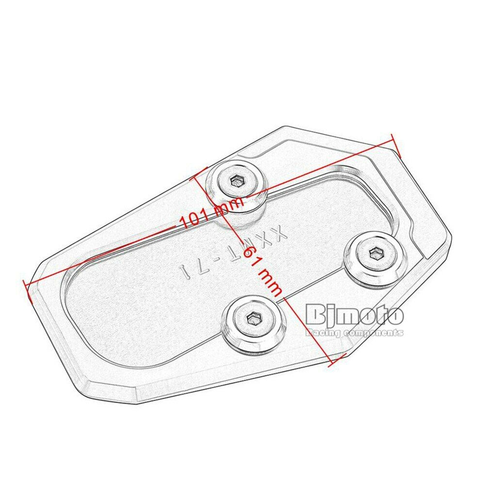 Black CNC Side Stand Enlarge Plate for BMW R1200RT 2014