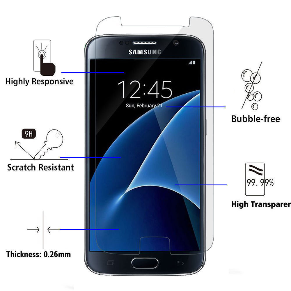 Premium Gorilla Tempered Glass Screen Protector Film for Samsung Galaxy S5 Cell Phone Accessories