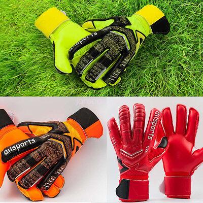 Kids Youth Adult Latex Soccer Goalie Keeper Goalkeeper Gloves Fingers Protector (Adult Latex)