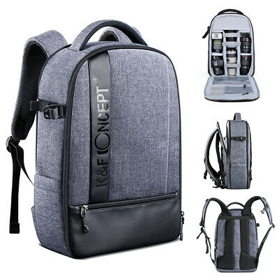 K&F Concept Large Camera Backpack Bag Case Waterproof for Canon Nikon Sony SLR